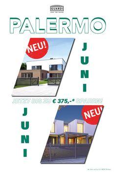 """NUR IM JUNI: Mit unserem neuen Modell """"PALERMO"""" präsentieren wir euch unsere jüngste Schöpfung aus der Designschmiede GUARDI. Ein außergewöhnlicher Zaun zum fairen Preis. *Alle Infos auf unserer Webseite. Palermo, Fence"""