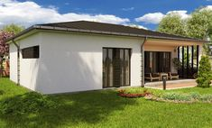 case mici cu doua dormitoare Small two bedroom house plans 11 Two Bedroom House, Desktop, Garage Doors, Shed, Outdoor Structures, Outdoor Decor, Home Decor, Arquitetura, Decoration Home