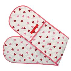Pink Hearts Double Oven Gloves 2013 for Sewing Crafts, Sewing Projects, Oven Glove, Emma Bridgewater, Kitchen Linens, Needle And Thread, Teacher Gifts, Gloves, Kids Rugs