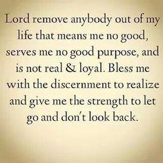 Discernment...not judgement.