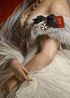 Attributed to Franz Xaver Winterhalter (1805-1873): Princess Marie of Saxe-Weimar (von Preußen). c. 1873. (detail)