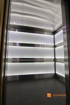 Exchange Building Seattle Washington Elevator Interior Elevator Design Elevator Cab LED lighting