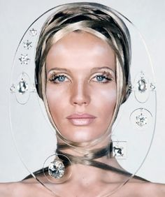 1960s iconic face Veruschka. Photo by Franco Rubartelli. Vogue May 1968