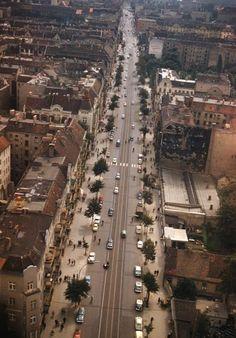 BERLIN 1958,  die Hermannstrasse im Bezirk Neukölln,
