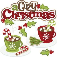 A Cozy Christmas SVG cute christmas clipart christmas svg christmas clip art