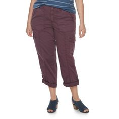 Plus Size SONOMA Goods for Life™ Utility Capris, Women's, Size: 22W Short, Drk Purple