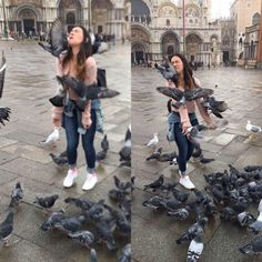Trying to get a When in Rome pic when suddenly pigeons.