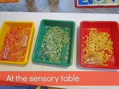 Invitation to Play at the Sensory Table from Teach Preschool