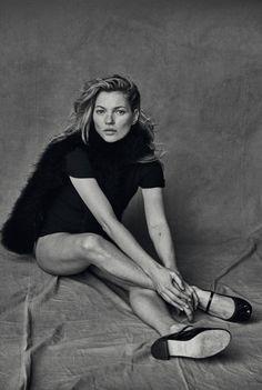 Kate Moss Unphotoshoped Portraits by Peter Lindbergh – Fubiz Media