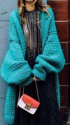 e6c6e02311ce Tricot Et Crochet, Tricots, Cardigan En Grosse Maille, Cardigan Vert,  Manteau Tricoté