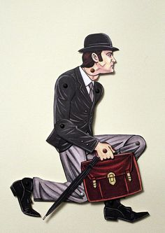 Ministry of Silly Walks John Cleese Articulated by ArdentlyCrafted, $11.00