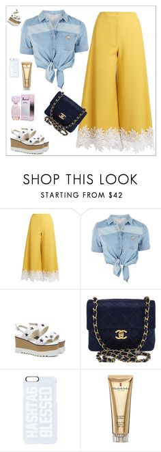 """HASHTAG BLESSED"" by sofiy112 ❤ liked on Polyvore featuring Sara Battaglia, GUESS, Chanel, Private Party and Elizabeth Arden"