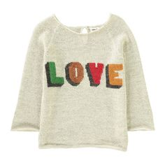 "Oeuf NYC ""Love"" Alpaca Wool Baby Jumper-product"