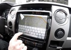 iPad3 installed in the dash of a Ford F150...