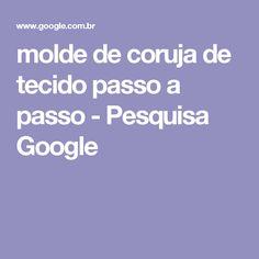 molde de coruja de tecido passo a passo - Pesquisa Google