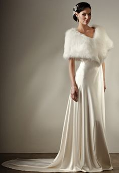 fur wedding dresses