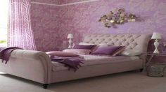 Fun purple wallpaper for charms - Top 5 Wallpaper Trends In 2017 - Contemporary Options In Wallpaper -  #wallpaper #wallpaper2017 #wallpapercolors #wallpaperpatterns #wallpapertextures #wallpapertrends