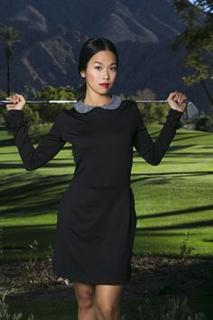 Golf in Style - Dress by Catherine Wingate.  Shorts built into the dress.  Athletic moisture wicking fabric with uv protection