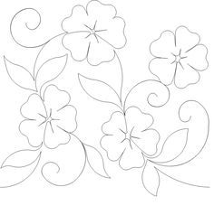 Draw Flower Patterns simple/cute block--could alternate/repeat it Annie's Favorite Flower Quilting Motif Quilting Stencils, Quilting Templates, Stencil Patterns, Longarm Quilting, Applique Patterns, Free Motion Quilting, Quilt Patterns, Flower Patterns, Pattern Flower