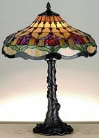 Tiffany style ceiling lights and lamps featuring beautiful stained glass tiffany shades. Shop Tiffany table lamps, floor lamps, ceiling lighting and more. Stained Glass Lamp Shades, Tiffany Table Lamps, House Lamp, Tulip Table, Table Lamp Base, Antique Lamps, Antique Lighting, Bedroom Lamps, Tulips