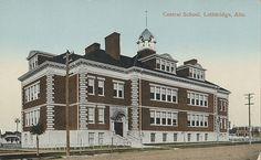 Central School, Lethbridge, Alberta, Canada c.1910-1960.