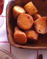 Maple-Baked Sweet Potatoes Recipe on Food & Wine
