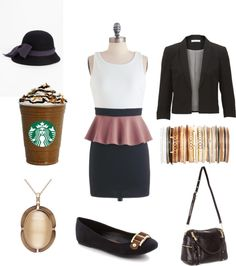 """Coffee with Boyfriend Dress Outfit"" by marissa-anne-weddle on Polyvore"