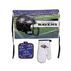 Baltimore Ravens Premium 3-Piece Barbeque Tailgate Set