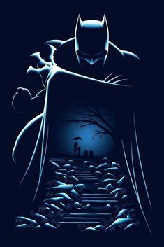 Drawing Dc Comics Batman and Thomas/Martha's graves Batgirl, Nightwing, Catwoman, Batman Painting, Batman Artwork, Batman Wallpaper, Wallpapers Geek, Nananana Batman, Batman Poster