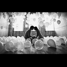 To tie the balloons in with Up at the end of the engagement shoot!