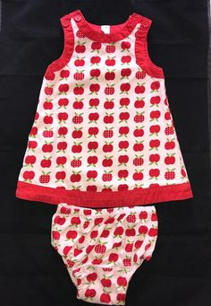 Baby Gap Infant Red White Apple Dress With Bloomers Size 12-18 Months | Clothing, Shoes & Accessories, Baby & Toddler Clothing, Girls' Clothing (Newborn-5T) | eBay!