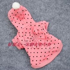 pet supplies dogs Thickening cotton dot Winter Costumes Clothes Apparel Jacket