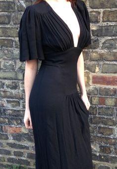 Ossie Clark black dress