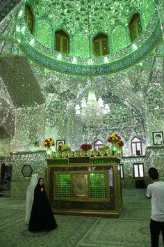 Aramgah-e Shah-e Cheragh Mausoleum in Shiraz, Iran