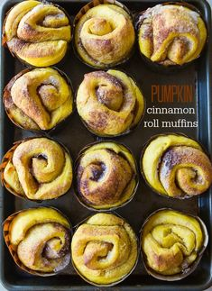 Hey there beauties --> Pumpkin Cinnamon Roll Muffins via A Zesty Bite #brunch #fall