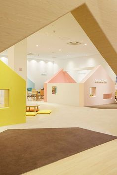 Mama Smile Mitojapan Emmanuelle Moureaux Architecture Design Daycare DesignSchool DesignClassroom DesignInterior