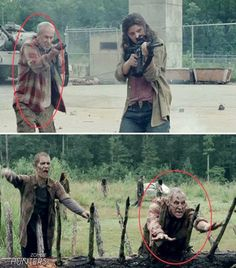 "I need to pay closer attention and notice the people that have ""turned"". Very cool that TWD does that!!"