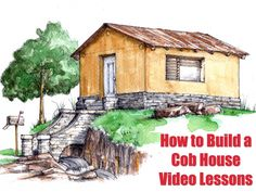 Tiny cob house plans and cob house designs. Want to build your own cob house? The Freeman tiny cob house is available! Tiny House Blog, Tiny House Living, Cob Building, Building A House, Green Building, Cob House Plans, Shelter, Natural Homes, Earth Homes
