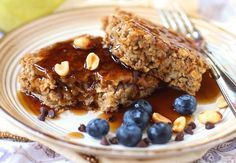 Healthy Peanut Butter Baked Oatmeal ~ this uses Stevia, flax seed and vanilla soy milk making it sugar-free, gluten-free and vegan (it's eggless).  There is nutrition info at the link.