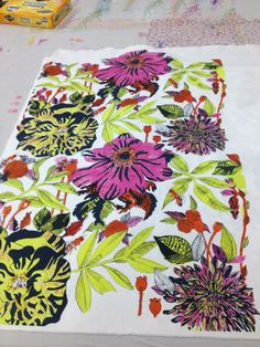 Floral Screen Print By Sophie Eccleston 2013
