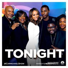 We're hours away! Anyone having a watch party? You got your DVR set? You gonna live tweet with me?! #CarmichaelShow