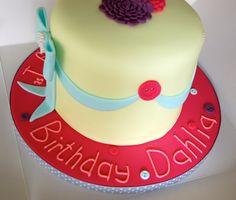A Rainbow cake for  Dahlia (a.k.a. the tallest cake I've ever made!)