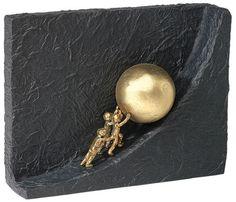 """Kerstin Stark: Skulptur """"Zusammen etwas bewegen"""", Bronze mit Kunststein"""
