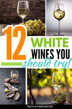 Learn the basics of white wine and the most popular types of white wine to choose the right bottle and pick something new to try New Year's Drinks, Wine Cocktails, Yummy Drinks, Cocktail Recipes, Alcoholic Drinks, Drink Recipes, Beverages, Types Of White Wine, Sweet White Wine