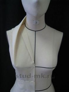 """Very interesting.  I think I might like the stand up fabric to come around the neck to 3"""" from center front."""