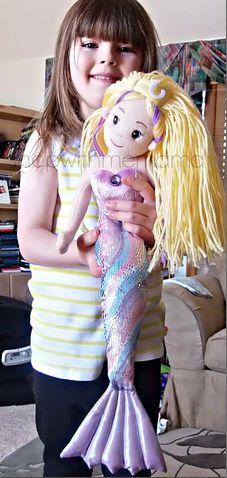 sea sparkle mermaid doll! DIY Doll Hairstyle. diy dolls.