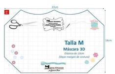 Mascara de tecido 3D: Moldes e medidas em todos os tamanhos para imprimir grátis - Como Fazer Sewing Patterns Free, Free Pattern, Mascara 3d, Diy Kids Furniture, Diy Mask, Diy For Kids, Crafty, Crochet, Face