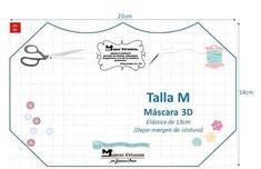 Mascara de tecido 3D: Moldes e medidas em todos os tamanhos para imprimir grátis - Como Fazer Sewing Hacks, Sewing Tutorials, Sewing Projects, Easy Face Masks, Diy Face Mask, Diy Kids Furniture, Diy Mask, Mask Making, Fashion Face