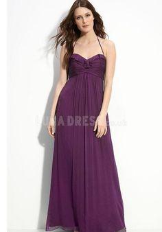 Gorgeous Halter A line Chiffon Empire Evening Party Dresses