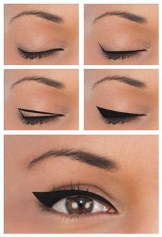 Mini Guide On Eyeliner for various . - Mini Guide On Eyeliner for different eye shapes explained in 9 ways make up - Eyeliner Hacks, Eyeliner For Downturned Eyes, Eyeliner For Hooded Eyes, Winged Eyeliner Tutorial, Eyeliner Styles, How To Apply Eyeliner, Winged Liner, Hooded Lids, Makeup Eyes